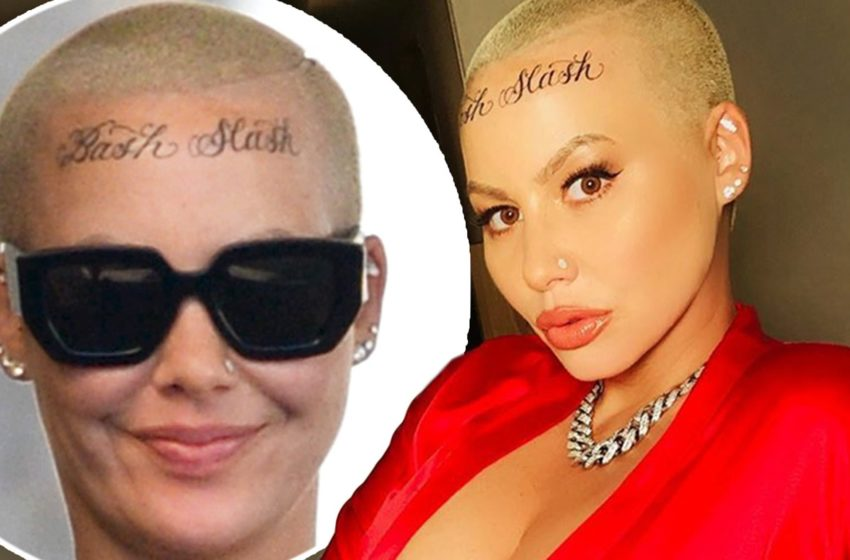 Amber Rose's Forehead Tattoos Have Mysteriously Disappeared In New Clip