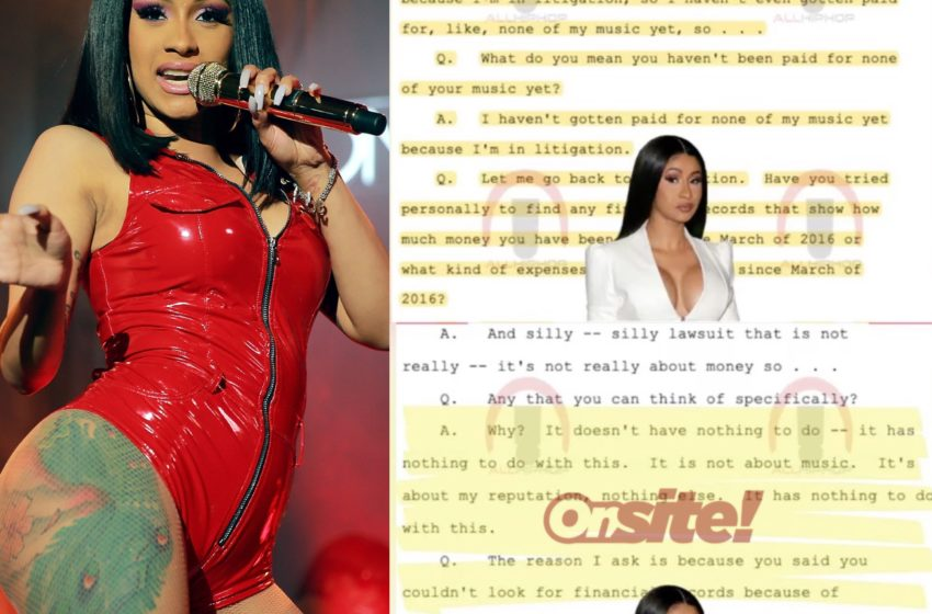 Cardi B Claims She Hasn't Been Paid for Her Music, Cites Ongoing Lawsuit as the Reason