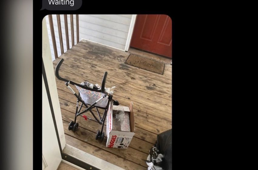 Fed Up Mom Leaves Baby on Porch to Spite Baby Daddy
