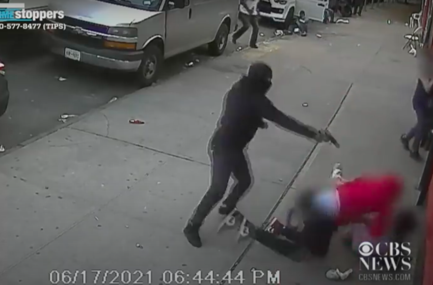Shocking Surveillance Video Shows Two Children Caught In The Middle Of NYC Shooting