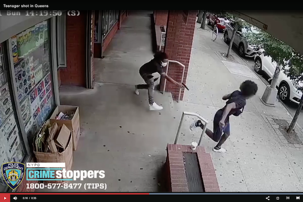 NYPD Release Video Of Teenager Dodging Gunman & Shot In The Leg While Fleeing