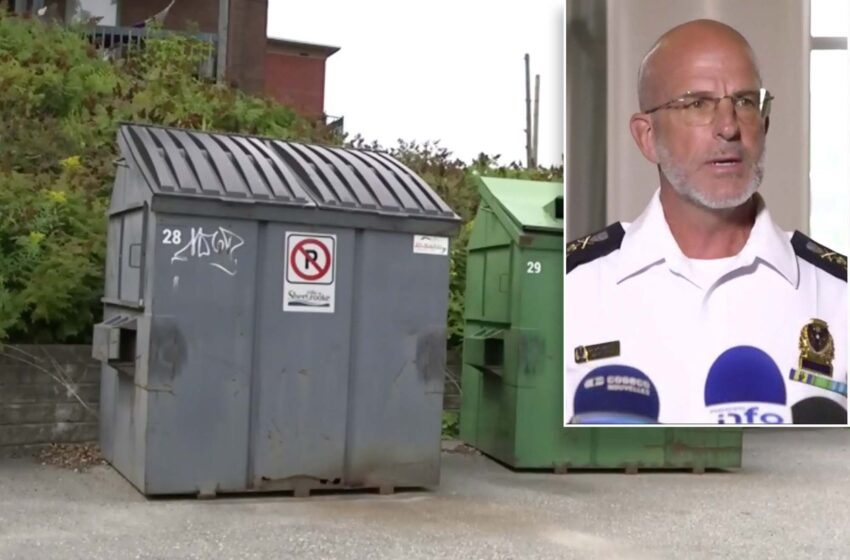 Canadian Police Apologize For Throwing Woman's Body In The Dumpster After Mistaking It For A Mannequin